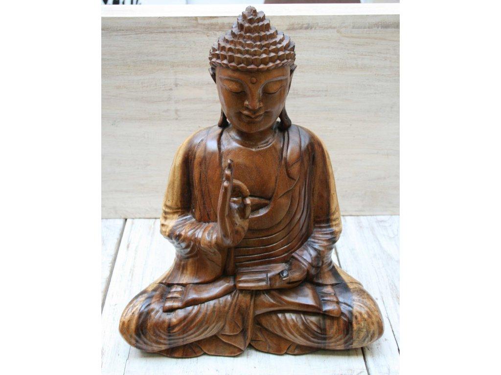 Socha Budha Buddha dřevořezba 40cm