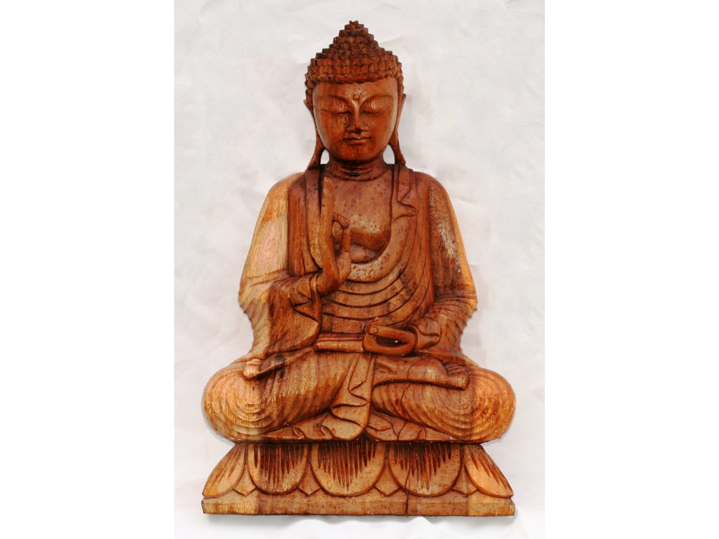 Socha Budha Buddha dřevořezba 50cm