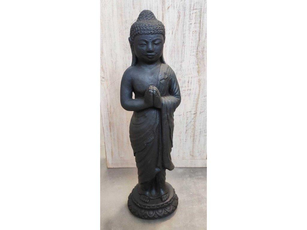 Socha Budha Buddha stojící 40cm patina DB