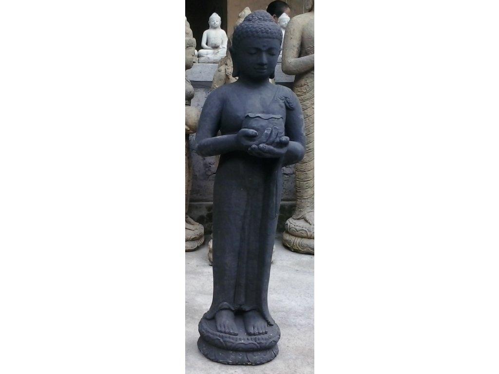 Socha Budha Buddha stojící s miskou 105cm patina DB