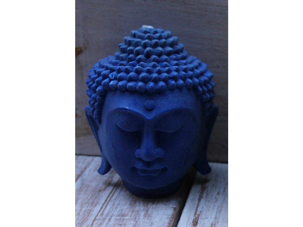 Svíčka Budha Buddha 14cm modrá + dárková krabička