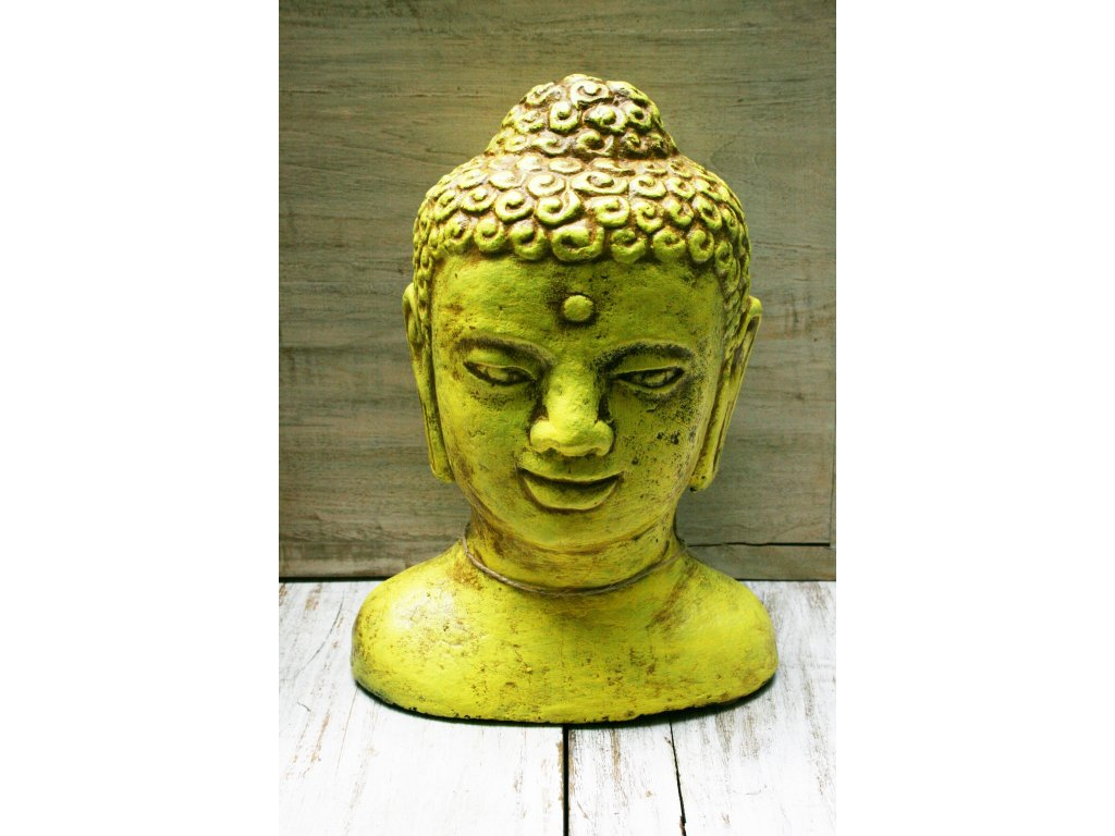 Socha Budha Buddha head torzo 30cm patina red