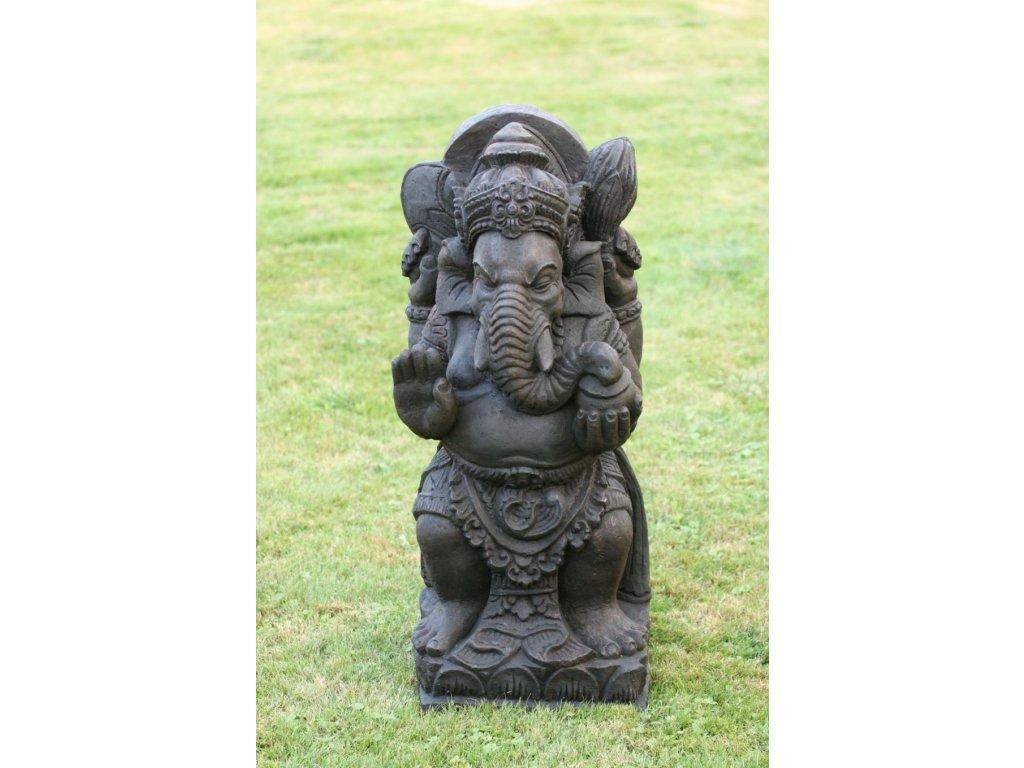 Socha Ganesha 80cm patina DB