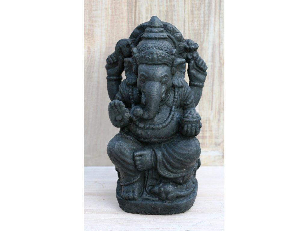 Socha Ganesha 30cm patina DB