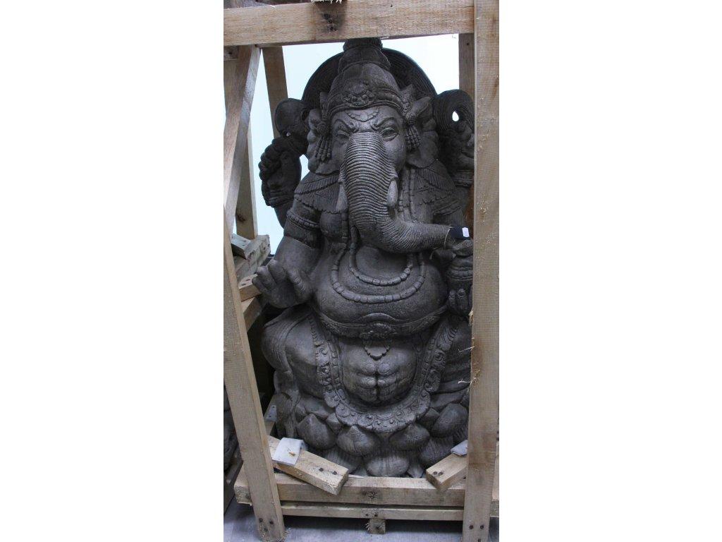 Socha Ganesha 100cm patina GREY