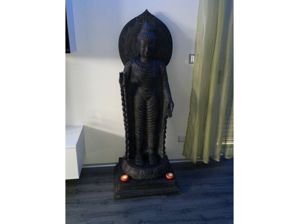 Socha Budha Buddha 165cm patina DB