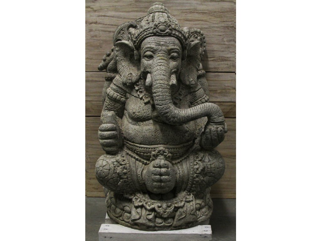 Socha Ganesha 60cm - Model C patina GREY