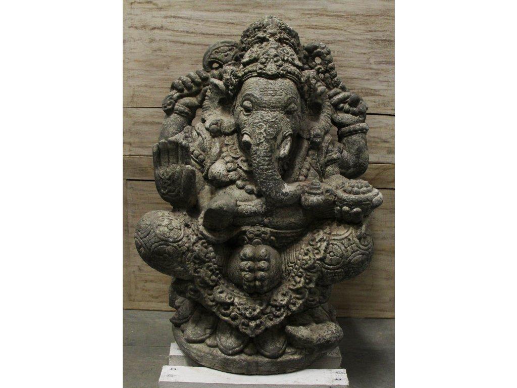 Socha Ganesha 60cm - Model B patina GREY