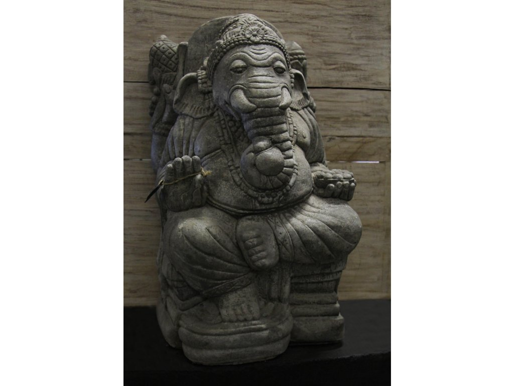 Socha Ganesha 60cm - Model A patina GREY