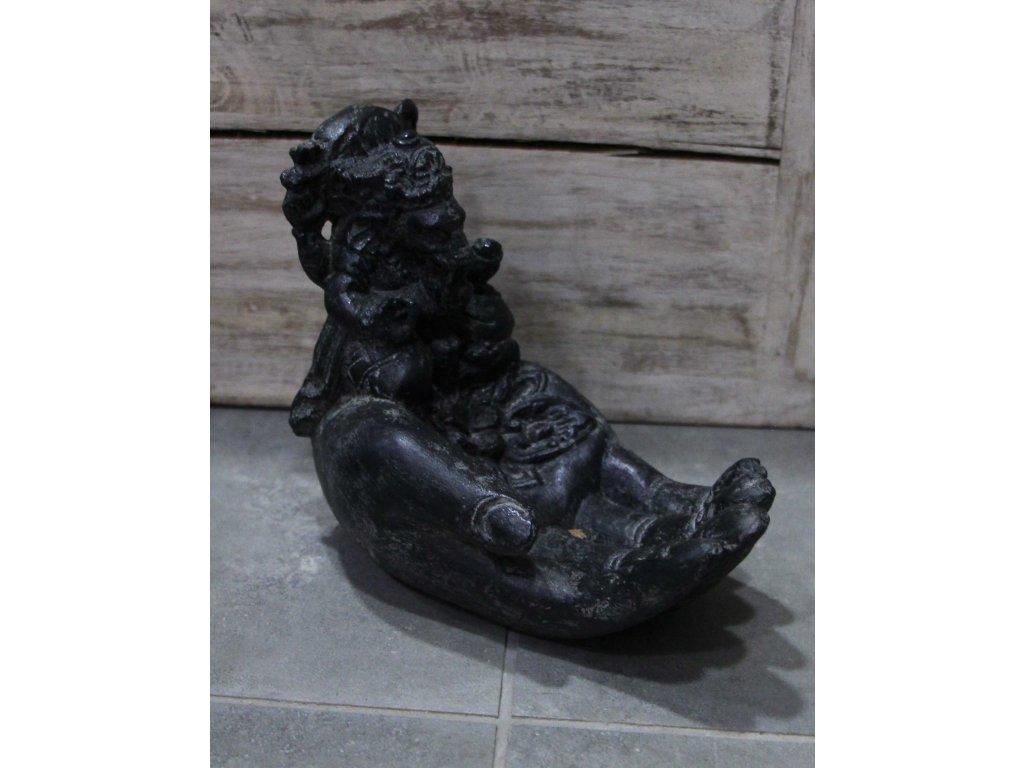 Socha Ganesha ruka na vonné tyčinky 15cm patina DG