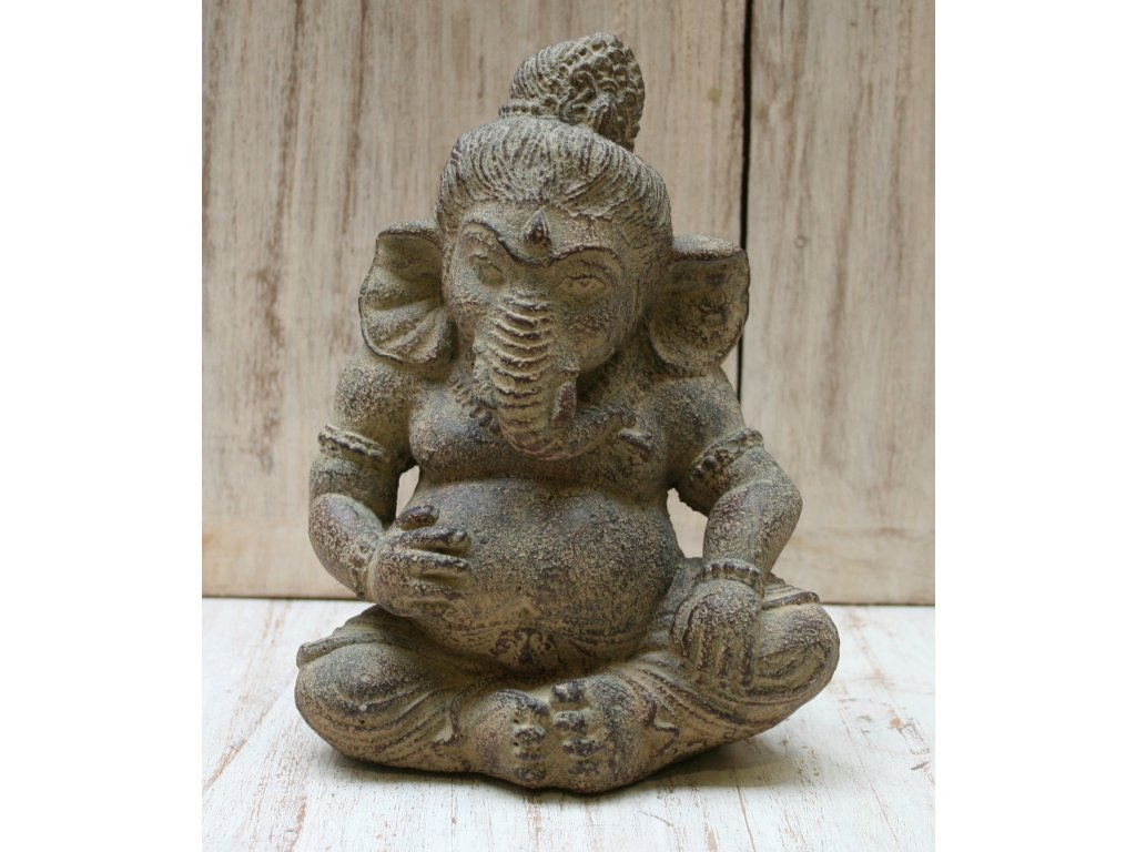Socha Ganesha baby 20cm patina BY