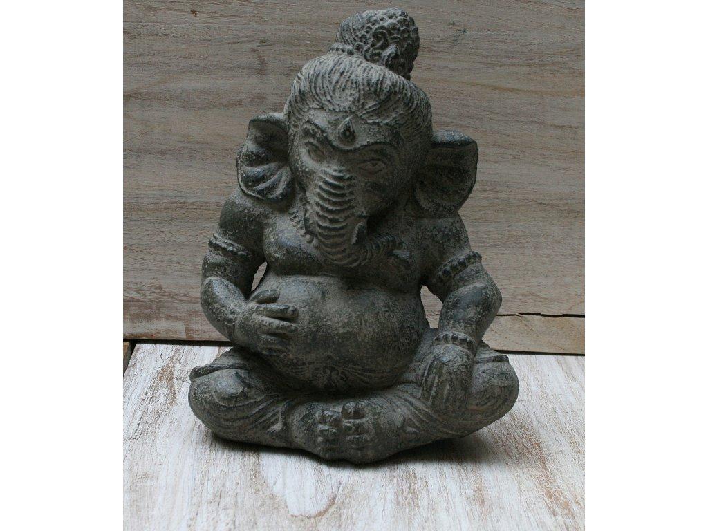 Socha Ganesha baby 20cm patina DG