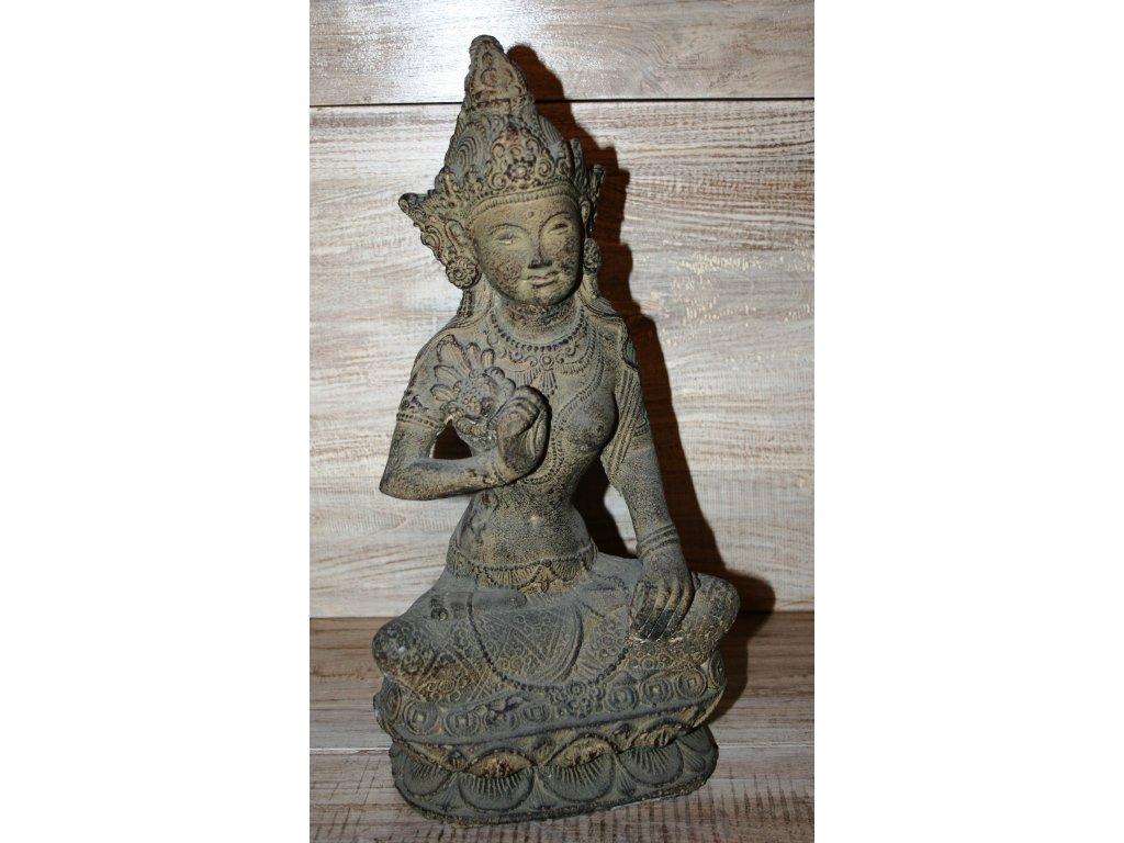 Socha Dewi Tara 40cm patina BY