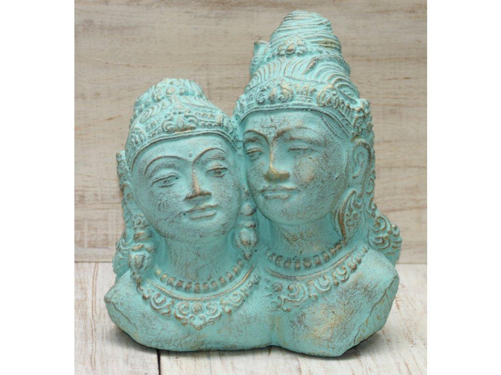 Socha Rama a Sita 30x30x20cm - patina TG