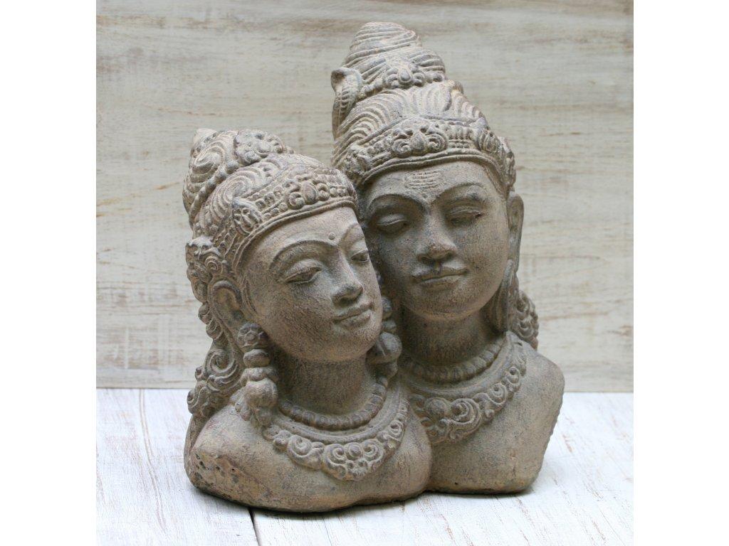 Socha Rama a Sita 30x30x20cm patina BY