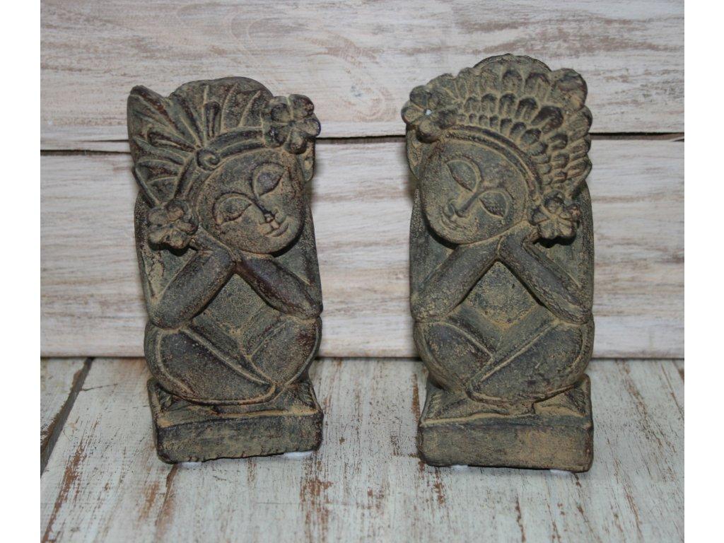 tradiční Bali sošky - muž a žena 15cm patina BY