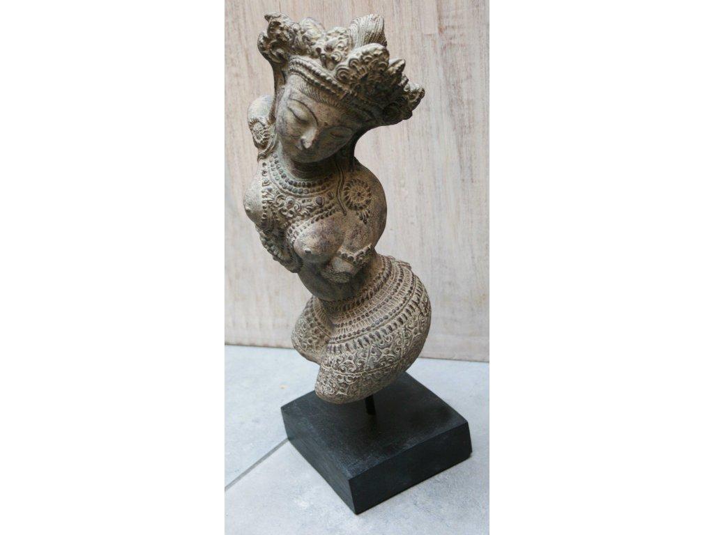 Socha torzo Dewi 40cm patina BY