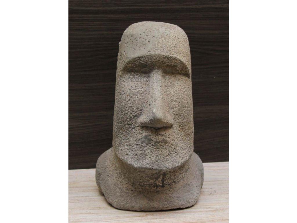 Socha VELIKONOČNÍ OSTROVY Moai 30cm patina grey