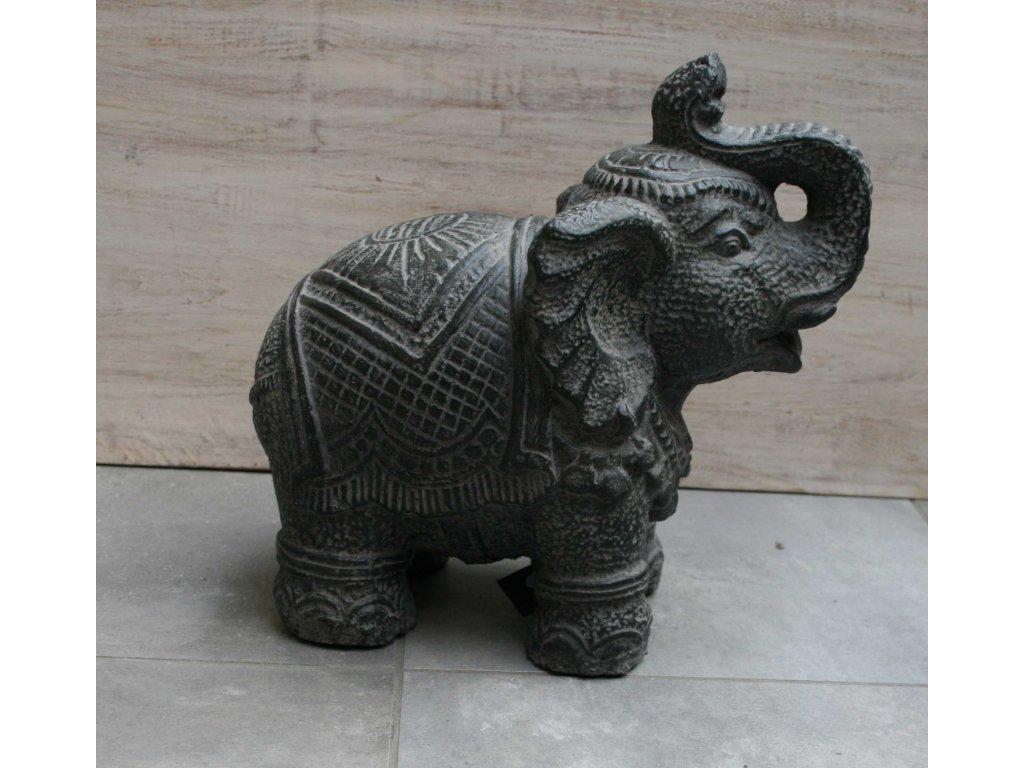 Slon sedící 26x26x15cm patina DG