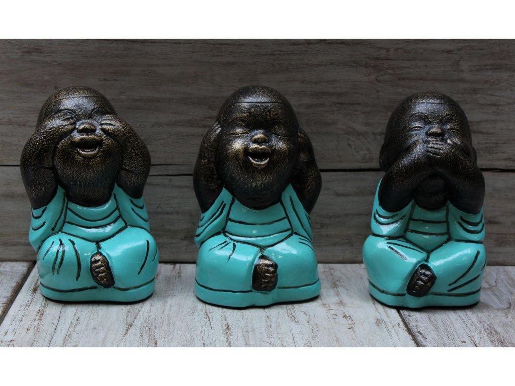 Tři moudrá miminka mnichů Shaolin Chi, Lu, Ba - výška 18cm