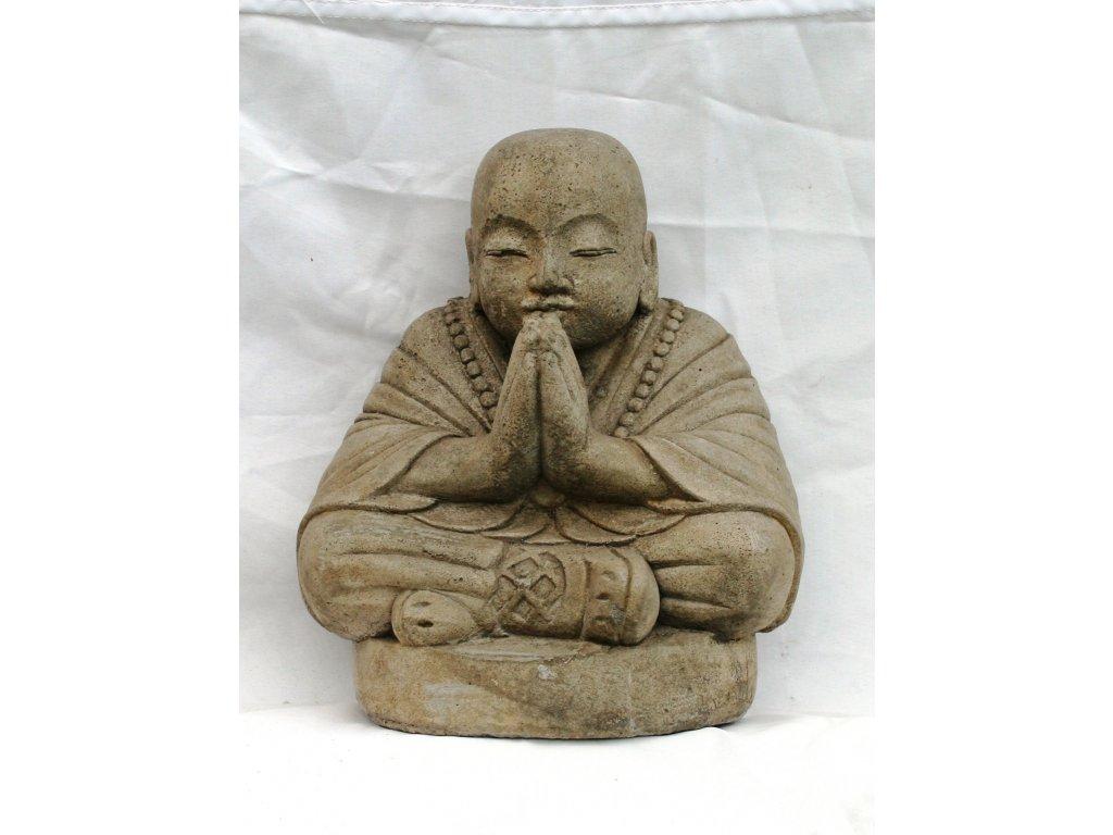 Socha mnich - monk Masra 32cm patina grey