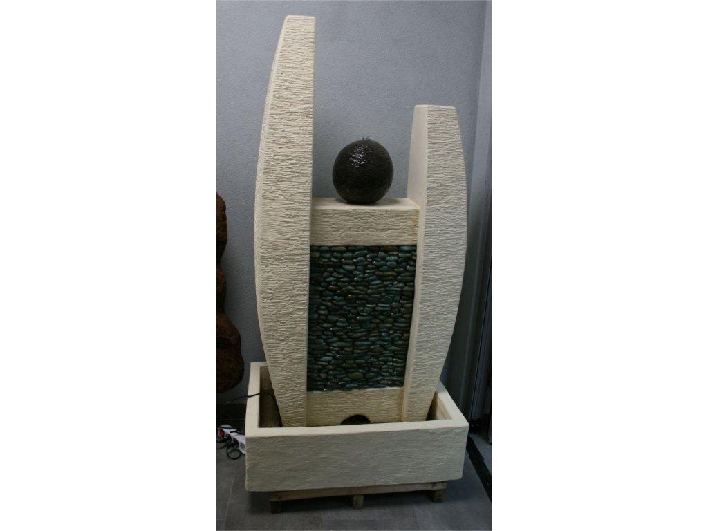 Fontána abstrakt model H 140cm patina CB