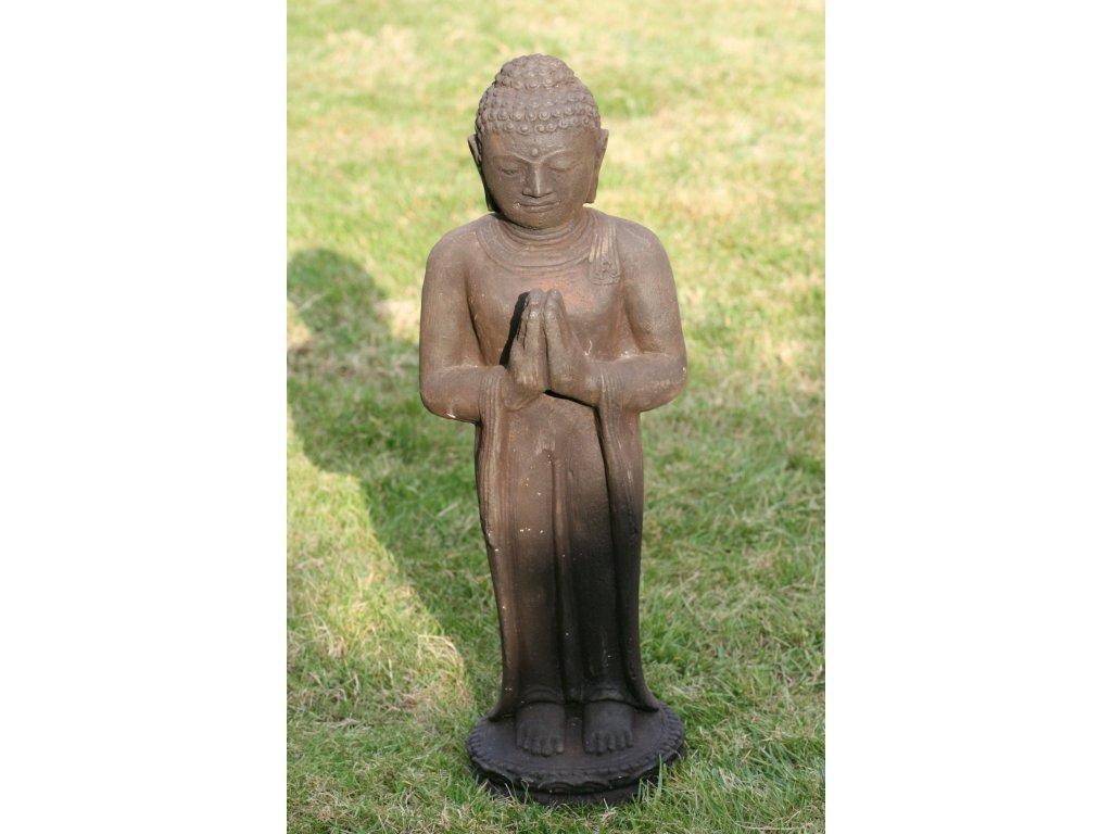 Socha Budha Buddha stojící meditující 60cm patina DB