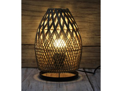 Stolní lampa ratan 26cm