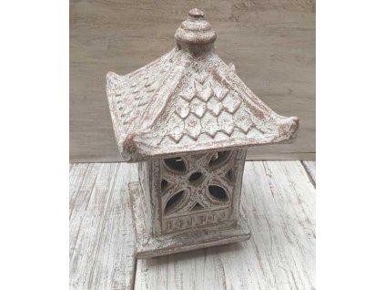 Orientální zahradní lampa pagoda - svítilna 36x23x23cm