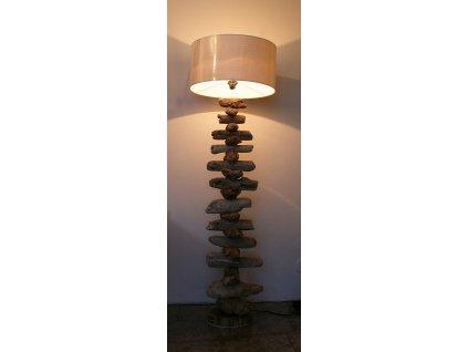 Lampa z vyplaveného dřeva wooden stone 145x45x23cm