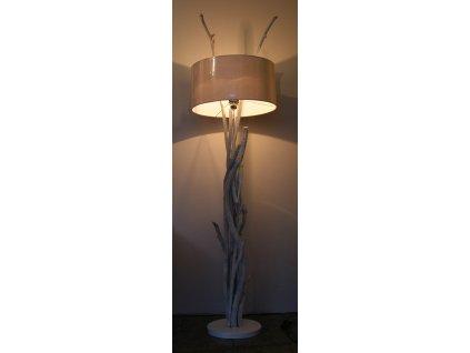 Lampa z vyplaveného dřeva Branches whitewash 175x45x23cm