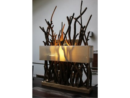 Lampa z vyplaveného dřeva 110cm