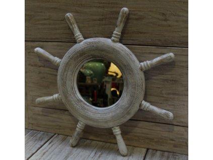 Dřevěné zrcadlo kormidlo model 94 50x50cm