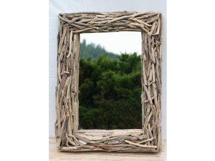 Zrcadlo z vyplaveného dřeva model 45 80x60cm