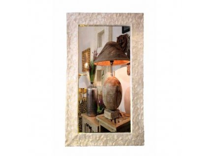 Dřevěné zrcadlo vykládané perletí model 91 120x70cm