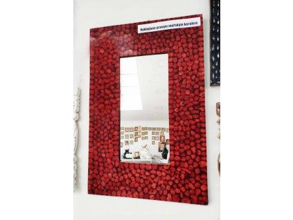 Zrcadlo vykládané pravým červeným mořským korálem 60x40cm