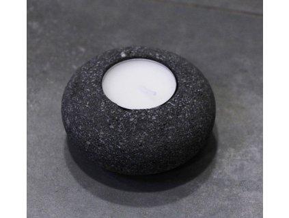 Svícen lávový kámen na čajovou svíčku model D