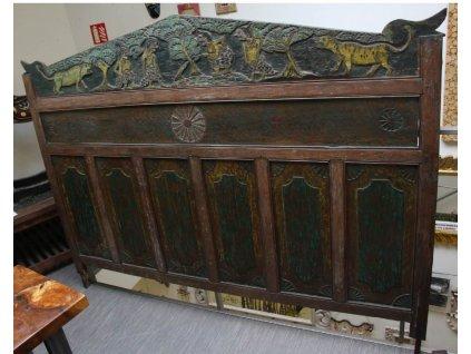 Dřevěné vyřezávané čelo Bali antique 137x195cm