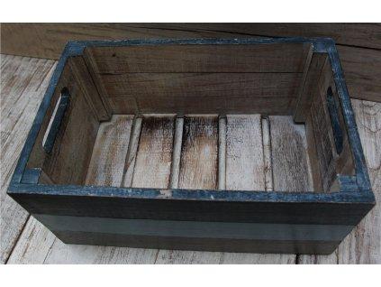 Dřevěná bedna Navy velikost S, M, L, XL, XXL