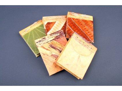 Zápisníček - deníček s ručně vyrobeným papírem 8x5cm