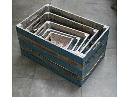 Dřevěná bedna Ocean velikost S, M, L