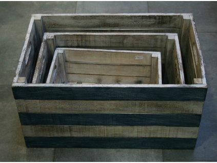 Dřevěná bedna Blue velikost S, M, L, XL, XXL