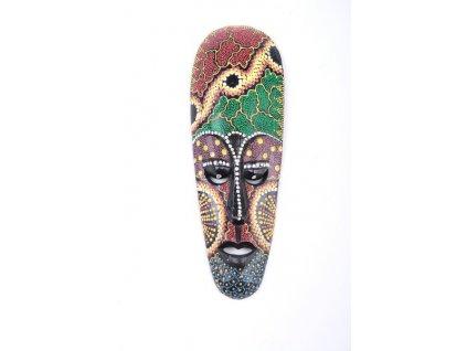 Dřevěná maska Aboriginal Australian 20cm