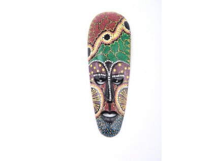 Dřevěná maska Aboriginal Australian 25cm