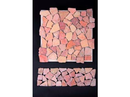 Kamenná mozaika MZ2 30x10cm (sokl, dělící pásek listela, obklad + dlažba)