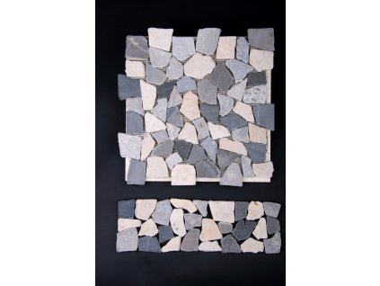 Kamenná mozaika MZ4 30x10cm (sokl, dělící pásek listela, obklad + dlažba)