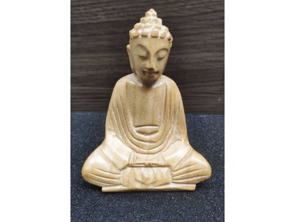 Socha Budha Buddha dřevořezba 10cm