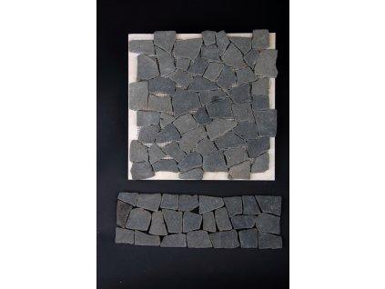 Kamenná mozaika MZ8 30x10cm (sokl, dělící pásek listela, obklad + dlažba)