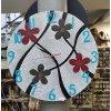 Dřevěné ručně malované nástěnné hodiny č.1, průměr 40cm