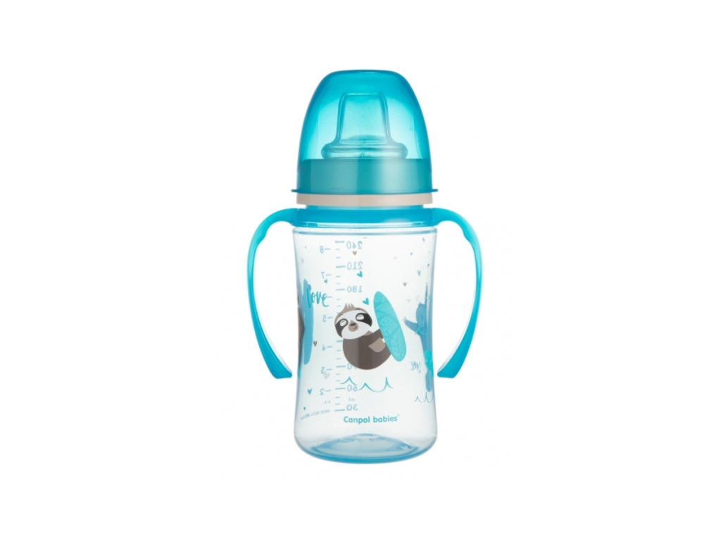 Canpol babies Nevylévací hrníček EasyStart - Panda - modrá